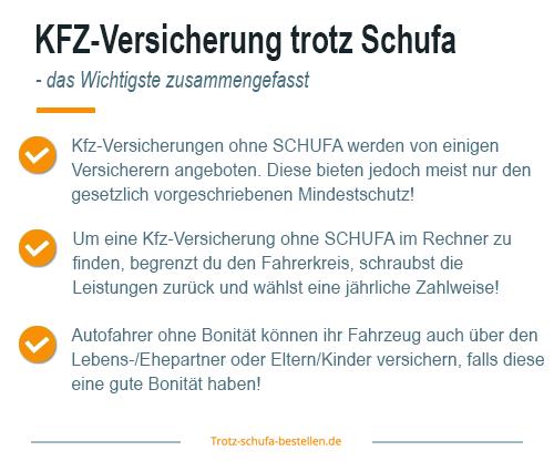 KFZ-Versicherung trotz Schufa